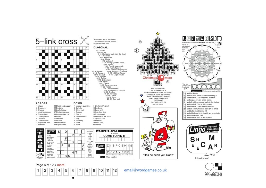 Crosswords Puzzles Wordgames for newspapers and magazines — Cartoons ...